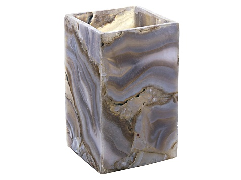 Agate Pen Stand Measures Appx 5x3x3