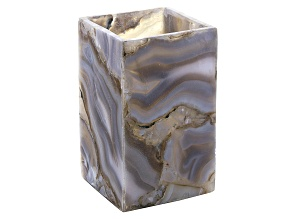 Agate Pen Stand Measures Appx 5x3x3""