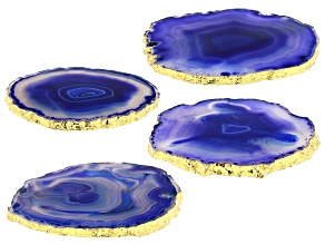 Blue Agate Coaster Set of 4