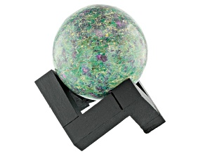 Ruby Fuchsite Decorative Sphere Appx 50mm with Stand