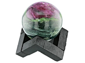 Ruby Zoisite Decorative Sphere Appx 50mm with Stand