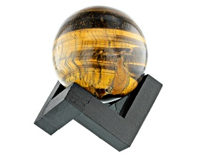 Tigers Eye Decorative Sphere Appx 50mm with Stand
