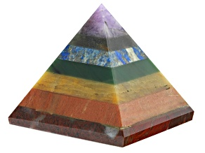 Colors of the Chakra Gemstone Pyramid Appx 3
