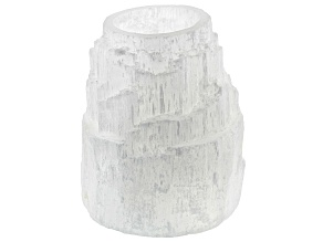 Selenite Mountain Polished Top Tealight Holder
