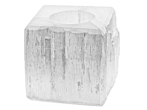 Selenite Square Tealight Holder