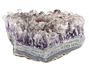 Amethyst Rough Crystal Tealight Holder. Measures appx 6x4""