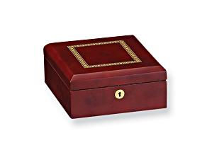Dark Burl Wood Gloss Finish Watch Box