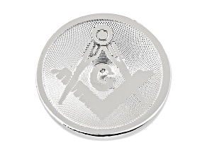 Silver Plated Masonic Tie Tac