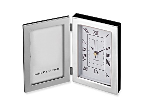 Silver Plated Clock And Photo Frame