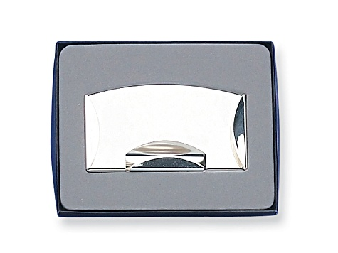Nickel Plated Money Clip And Card Case