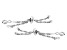 Sliding Adjustable Bracelet Clasps in Rhodium Over Sterling Silver Rope Chain 2 Piece Set