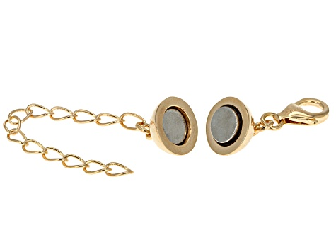 Magnetic Clasp Converter 18 Kt Gold Over Sterling Silver Large 6mm With 2inch Extension Chain