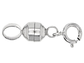 Magnetic Clasp Converter in 10k White Gold