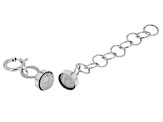 Magnetic Clasp Converter in 10k White Gold With 1 inch Extension Chain