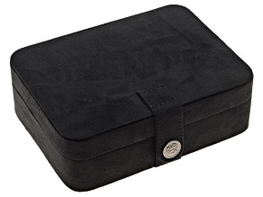 Jewelry Box Giana Plush Fabric Black
