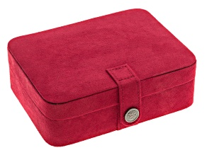 Jewelry Box  Giana Plush Fabric Red
