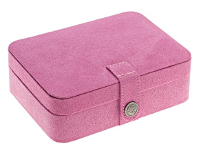 Jewelry Box Giana Plush Fabric Pink