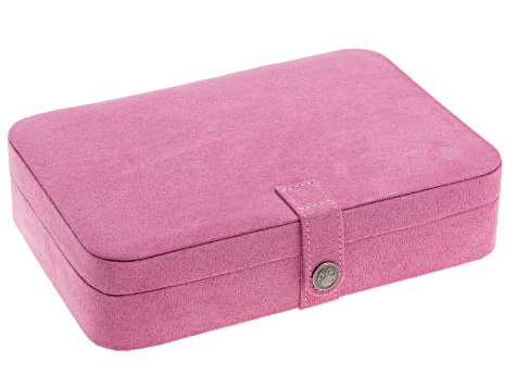 Jewelry Box Maria Plush Fabric Pink