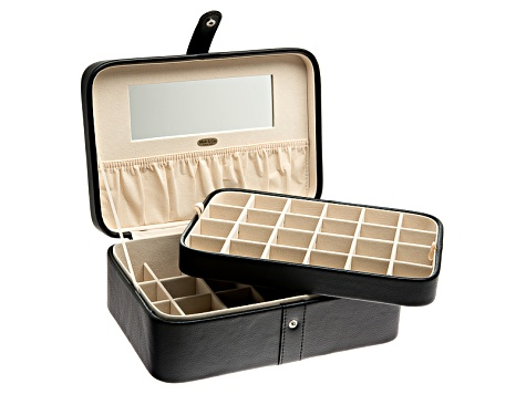 Jewelry Box Lila Black Faux Leather By Mele Co
