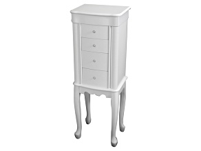 Jewelry Armoire Alexis White Color Wood