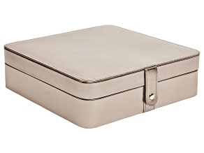 Jewelry Box Deena Metallic Faux Leather in Pewter