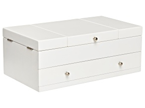 Wooden Jewelry Box Everly in White Finish