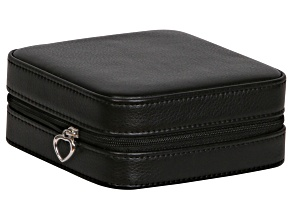 Travel Jewelry Box Dana in Faux Leather in Black