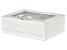 Jewelry Box Dixie in White Faux Leather