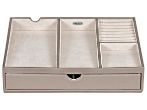 Charging Station Hartford in Oyster Grey Color Faux Leather
