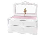 Wooden Musical Jewelry Box Kelby in White