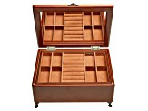 Wooden Jewelry Box Kinsley in Walnut Finish