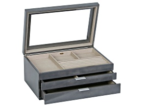Wooden Jewelry Box Misty in Oceanside Grey Finish