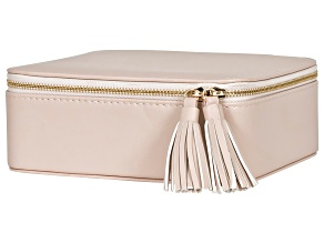 Jewelry Box Shiloh in Tan Faux Leather