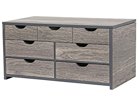 Wooden Jewelry Box Coventry in Oceanside Grey Finish