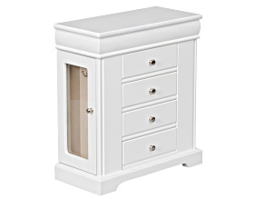 Wooden Jewelry Box Kate in White Finish