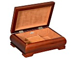 Wooden Jewelry Box Carmen in Walnut Finish