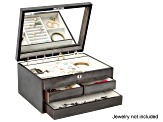 Wooden Jewelry Box Claudia in Oceanside Grey
