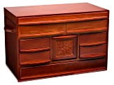 Jewelry Box Empress Walnut Finish