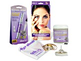 GemOro (TM) Travel Jewelry Cleaner Bundle Includes Sparkle Wand, Polishing Cloth & Shaker Jar