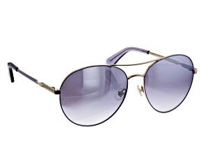 Kate Spade Joshelle Plum Gold/Grey Sunglasses