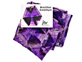 Amethyst Gemstone Print Chiffon Scarf Measures Approximately 18 inches By 67 inches