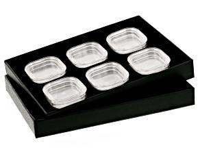 Pre-Owned Gemstone Storage Tray With 6 Gemstone Storage Jars
