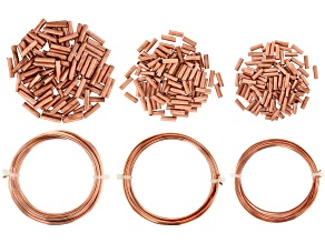Pre-Owned YouTube Only Artistic Wire&Crimp Connectors Kit In Copper Includes 12,14&16 Gauge Wire&Cri