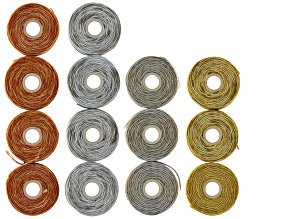 Pre-Owned B-Lon Tex 210 Assorted Cord Kit in Gold Color, Silver Color, Copper Color &Grey incl 14 Sp