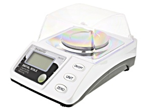 Pre-Owned Portable Digital Scale Measures Carat & Gram Weight includes Ac Adapter & Batteries