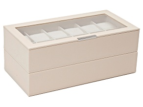 Pre-Owned Stackable Watch Tray Set 2 X 1 Cream By Wolf