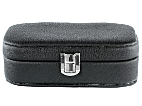 Philip Whitney (TM) Faux Leather Travel Jewelry Box in Black 6