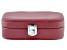 "Philip Whitney (TM) Faux Leather Travel Jewelry Box in Red 6"" x 4"" x 2"""