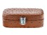 Philip Whitney (TM) Faux Ostrich Travel Jewelry Box in Brown 6