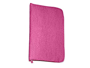 Fuchsia Leatherette Anti-Tarnish Jewelry Organizer